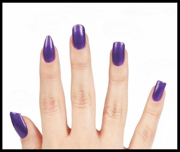 Овальная форма ногтей и
