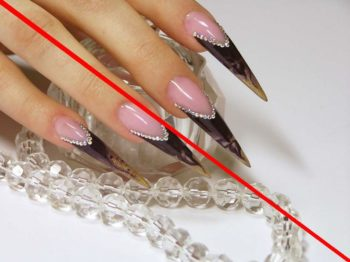 stiletto, ostrie nogti, manicur