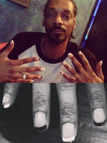 snoop dog, francuzskiy manicur, manicur french, french