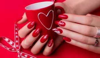 manicur na den svyatogo valentina, romanticheskiy manicur, manicur dlya vlyublennih, manicur s serdcami, manicur na den vlyublennyh, prazdnichniy manicur, manicur na 14e fevralya, manicur ko dnyu valentina