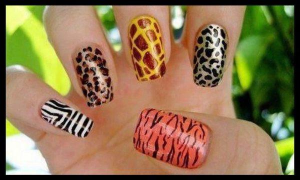 afrikanskiy manicur, osenniy manicur, trendovuy manicur, hischniy manicur, leopardoviy manicur, leopardovie nogti, leopardoviy print, print zebra, zebra na nogtyah, afrikanskie nogti, tigrovie nogti, nogti s hischnym printom
