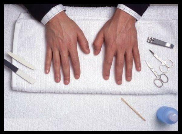 muzhskoy manicur, manicur dlya muzhchin, kak sdelat manicur muzhchine, uhod za muzhskimi rukami, kak obrezat nogti muzhchine, muzhskoy pedikur